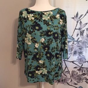 J. Jill Loose Fit Floral Pullover Top